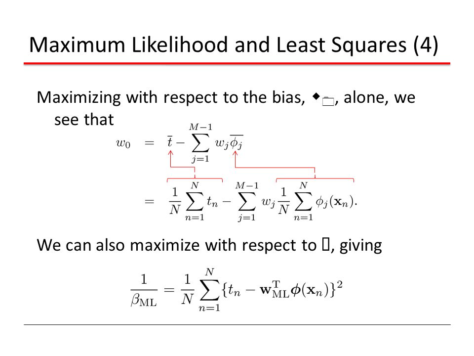 Maximum Likelihood and Least Squares (4)