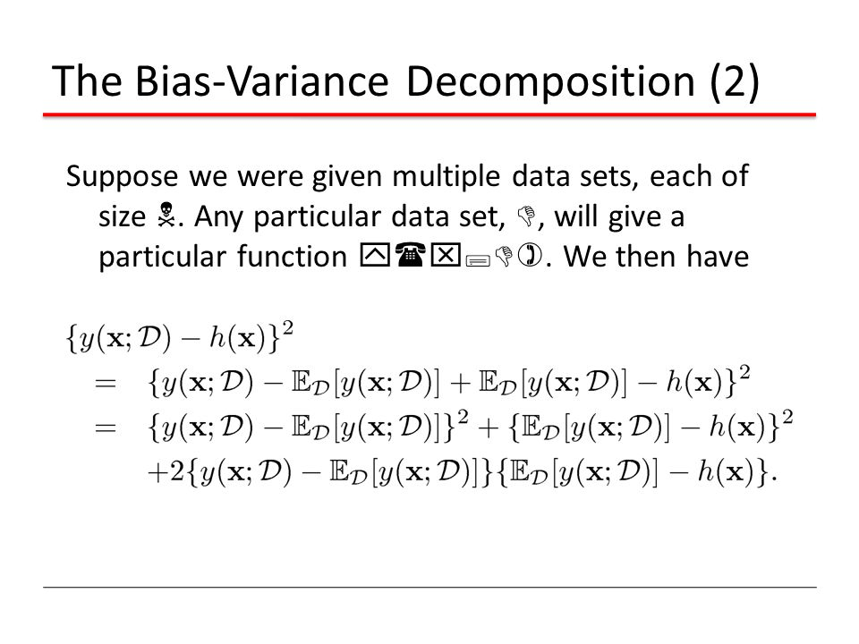 The Bias-Variance Decomposition (2)