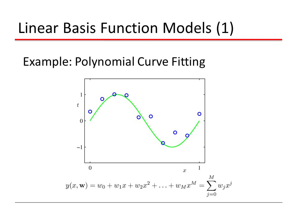 Linear Basis Function Models (1)