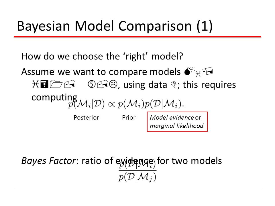 Bayesian Model Comparison (1)