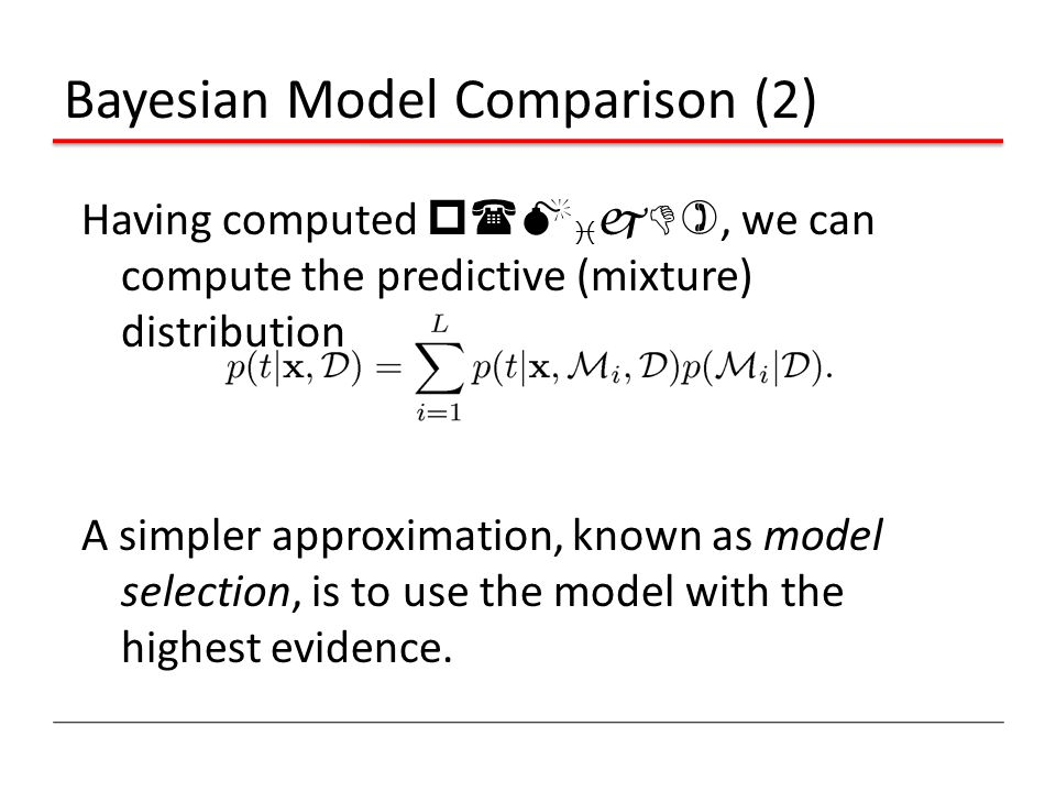 Bayesian Model Comparison (2)