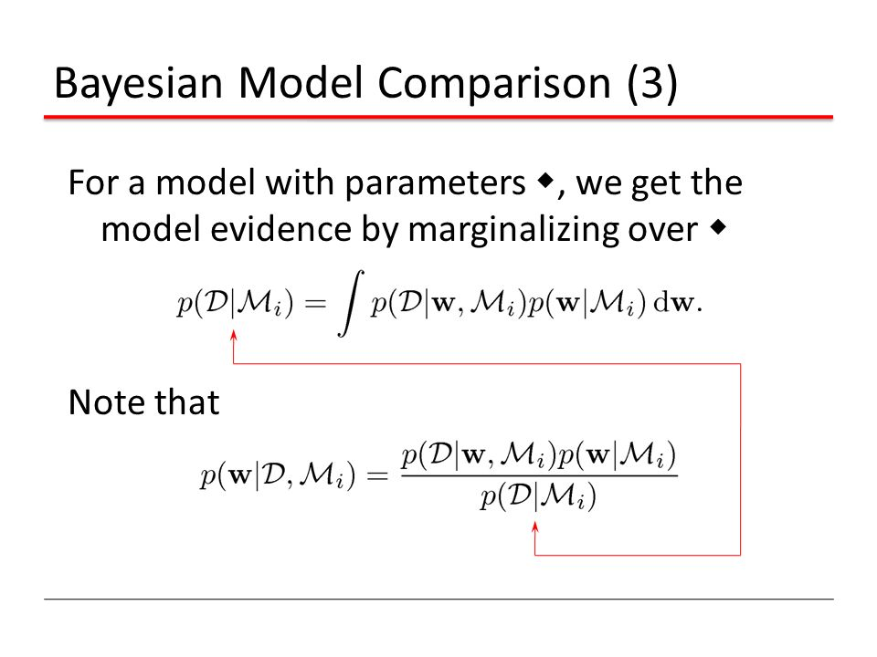Bayesian Model Comparison (3)