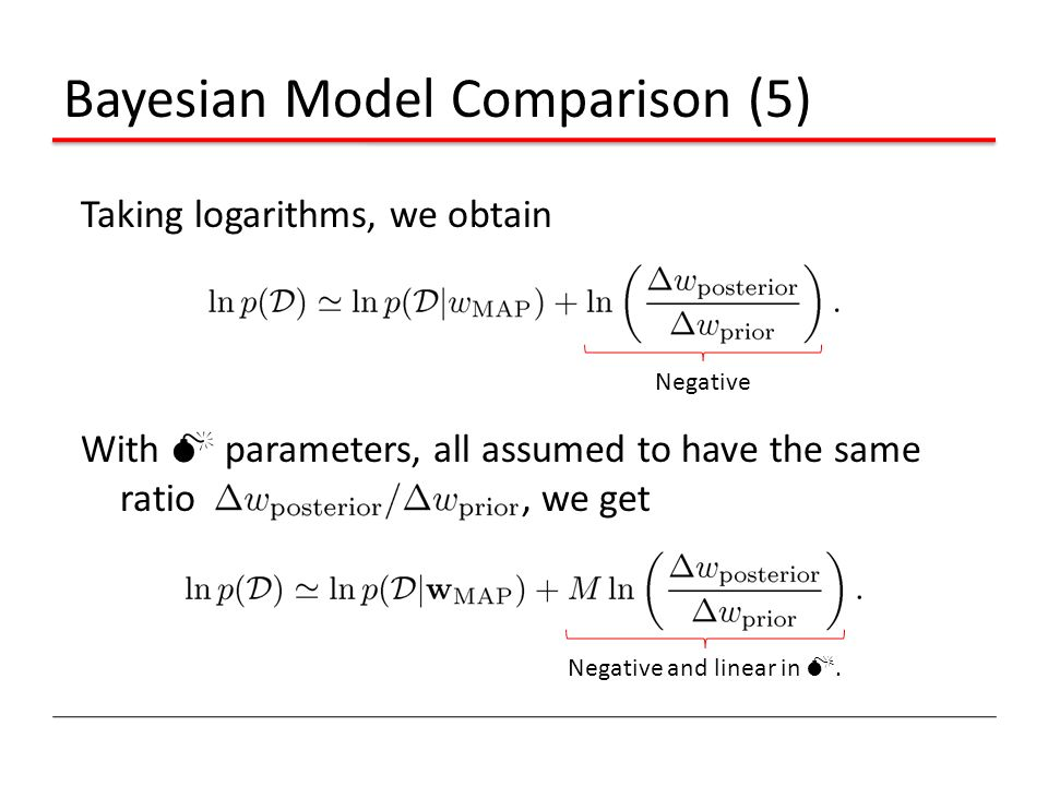 Bayesian Model Comparison (5)