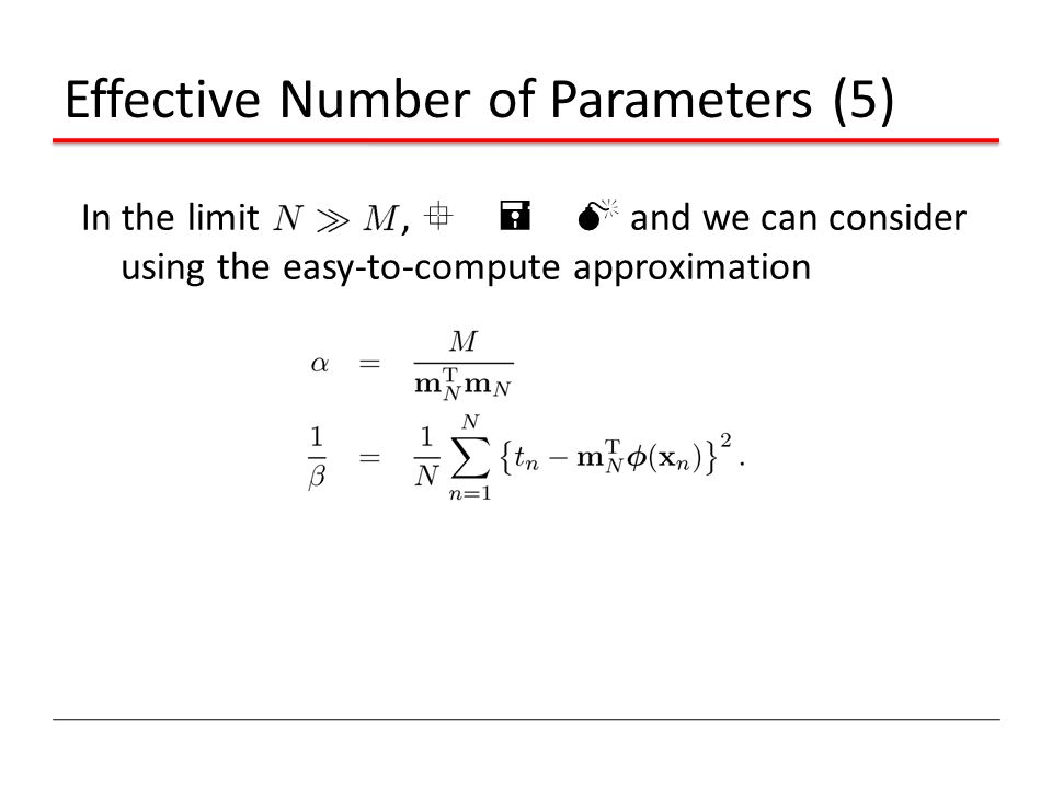 Effective Number of Parameters (5)