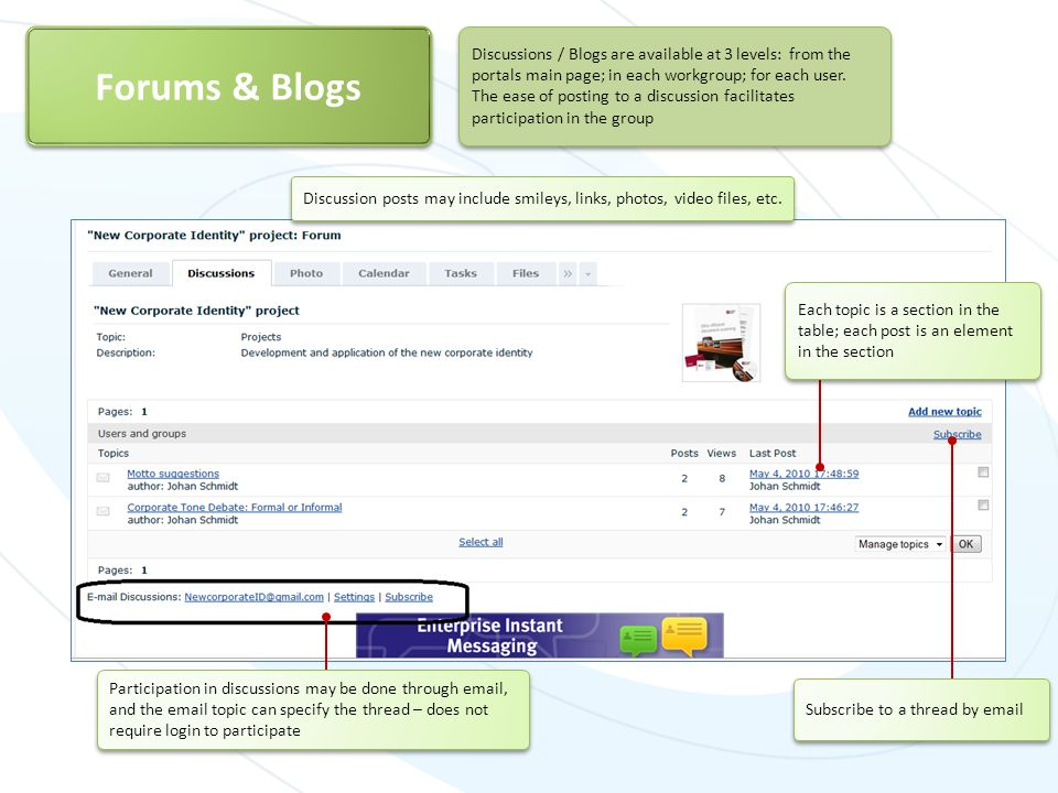 Forums & Blogs