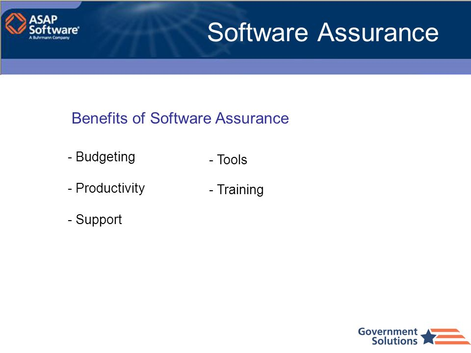 Software Assurance Benefits of Software Assurance - Budgeting