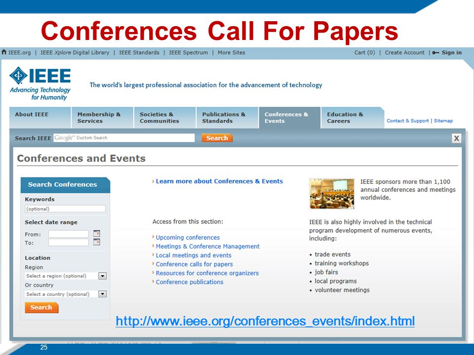 Conferences Call For Papers