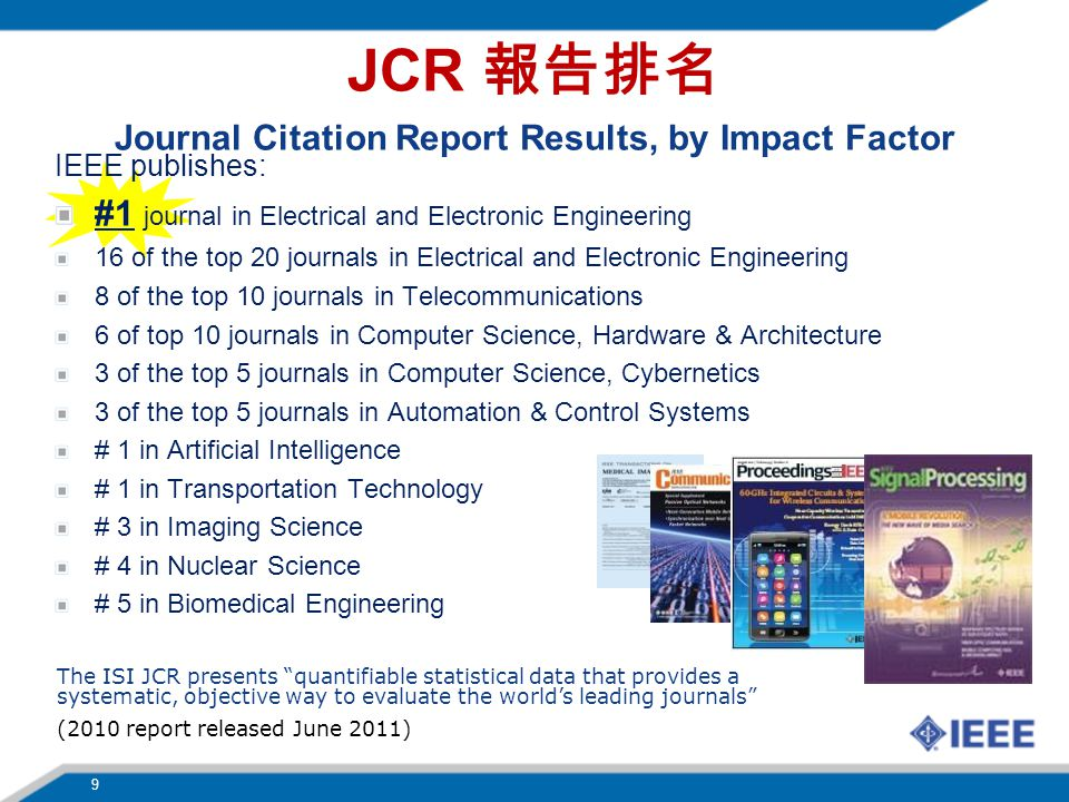 Journal Citation Report Results, by Impact Factor