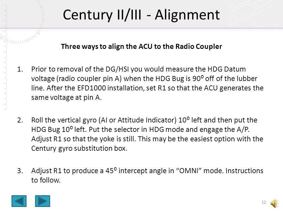 EFD1000 to Century II/III Autopilot Interface - ppt video