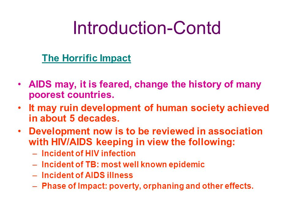Introduction-Contd The Horrific Impact