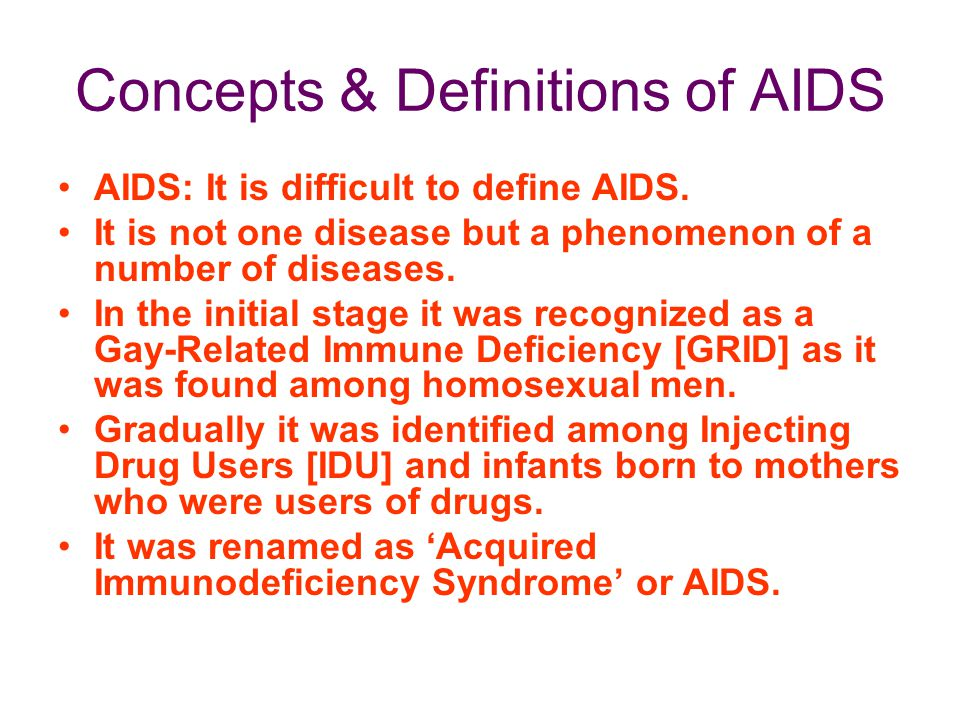 Concepts & Definitions of AIDS