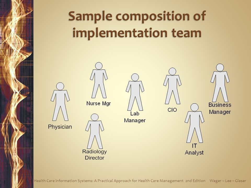 Sample composition of implementation team