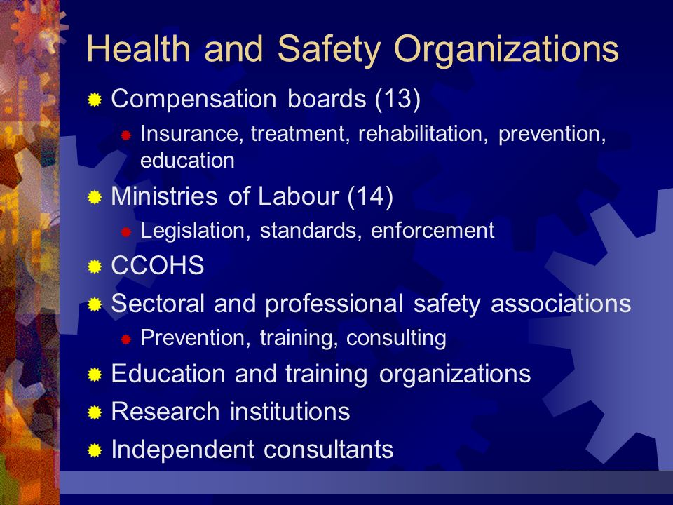 Health and Safety Organizations