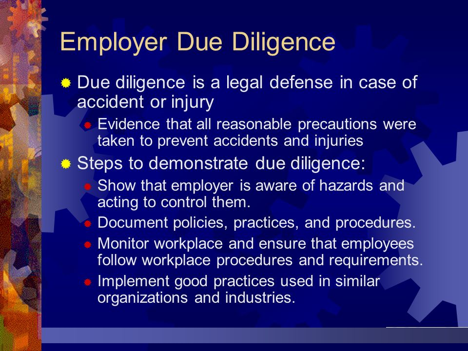 Employer Due Diligence
