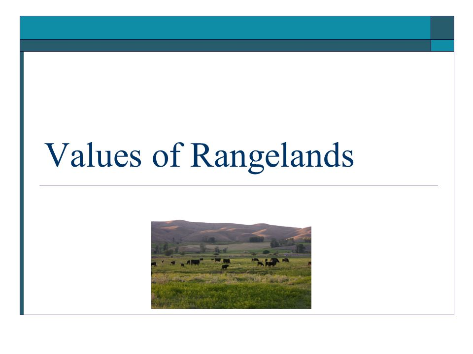 Values of Rangelands Presentation (.ppt)