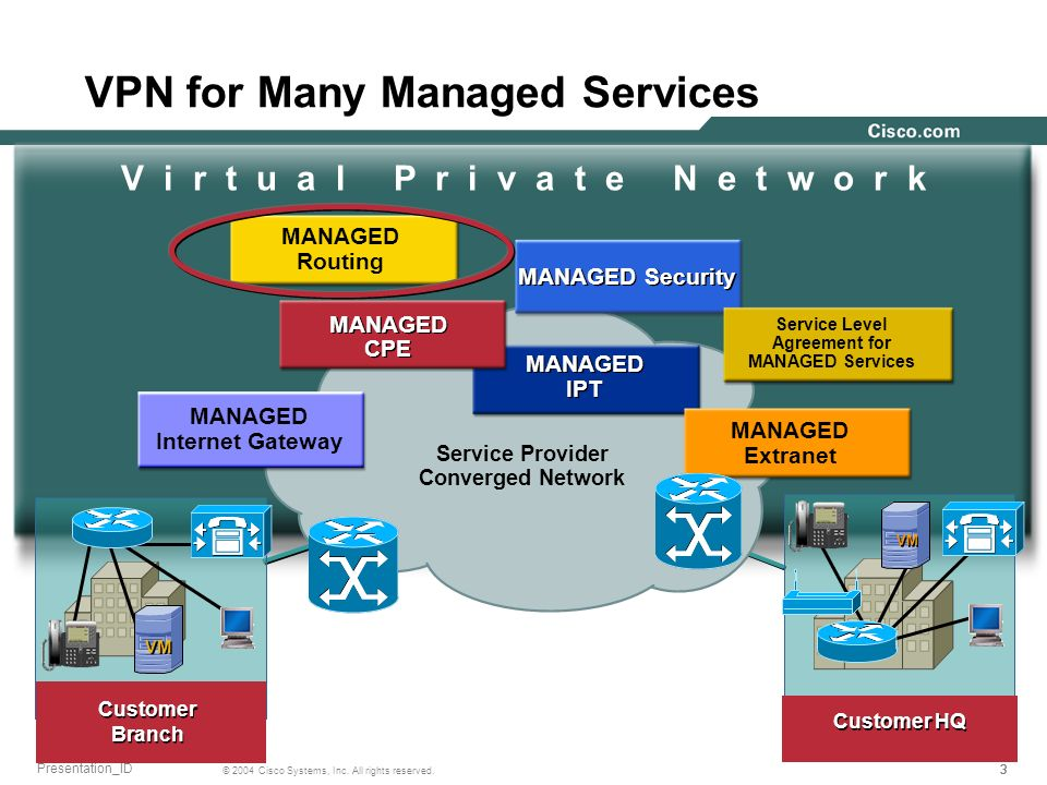 VPN for Many Managed Services
