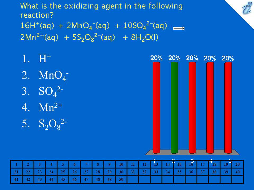 What is the oxidizing agent in the following reaction