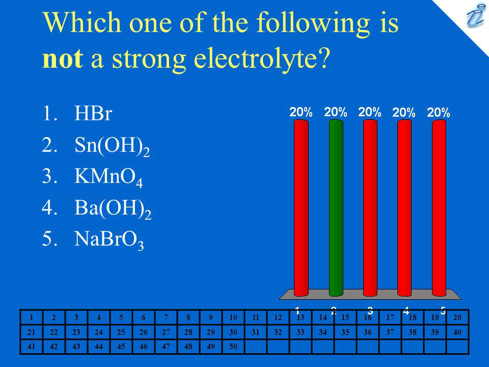 Which one of the following is not a strong electrolyte