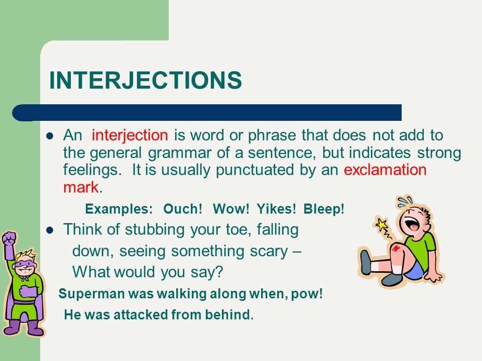 Interjections examples image collections example of resume for.