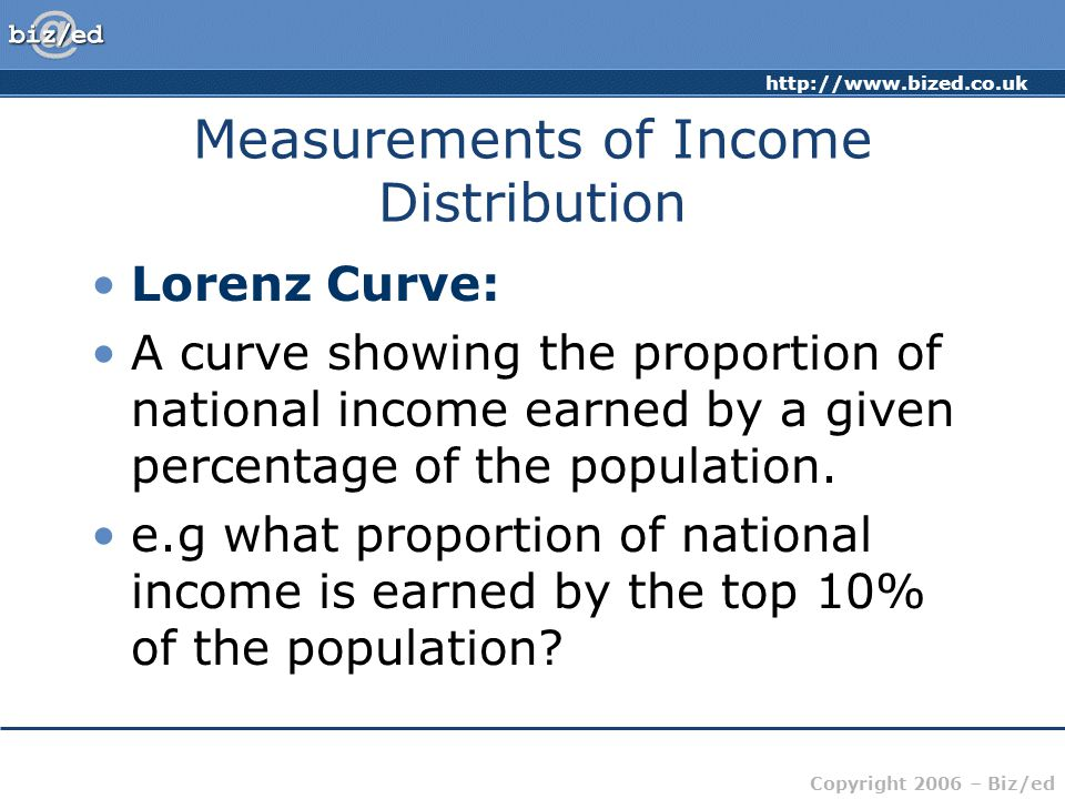 Measurements of Income Distribution