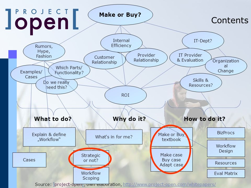 Contents Make or Buy What to do Why do it How to do it IT-Dept