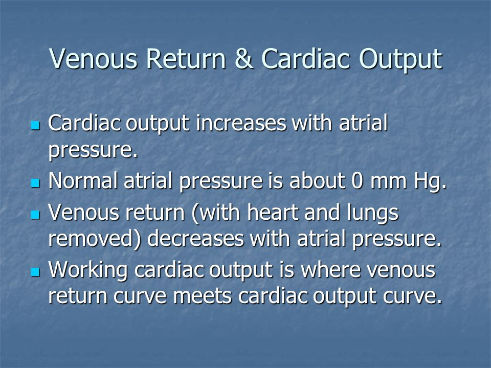 Venous Return & Cardiac Output
