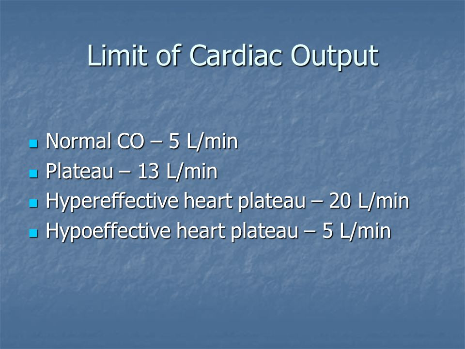 Limit of Cardiac Output