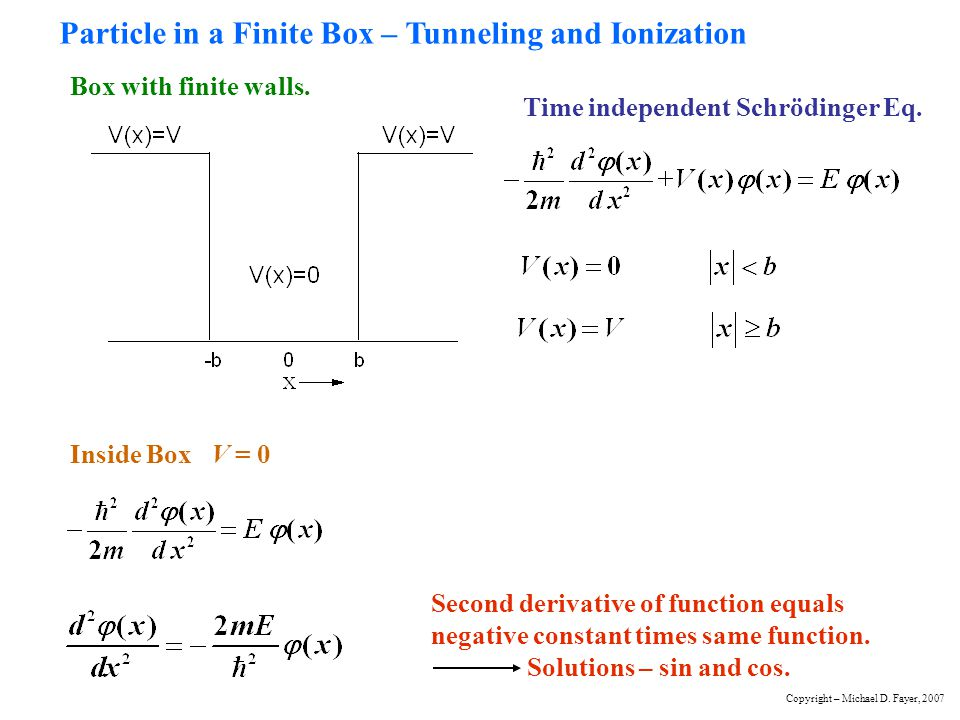 Particle in a Finite Box – Tunneling and Ionization