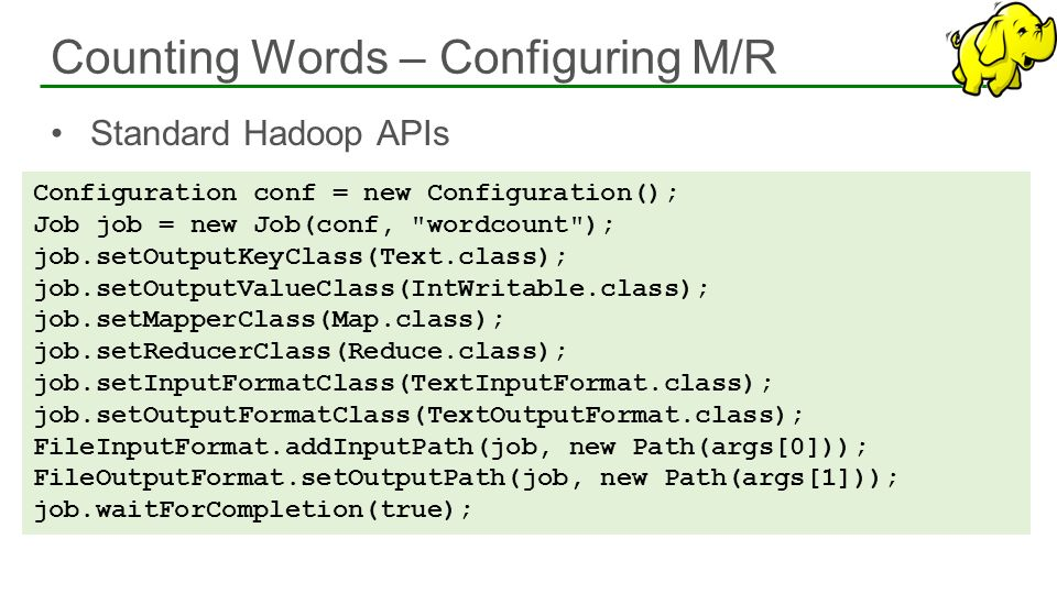 Counting Words – Configuring M/R