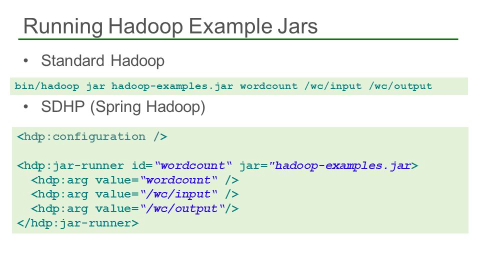 Running Hadoop Example Jars