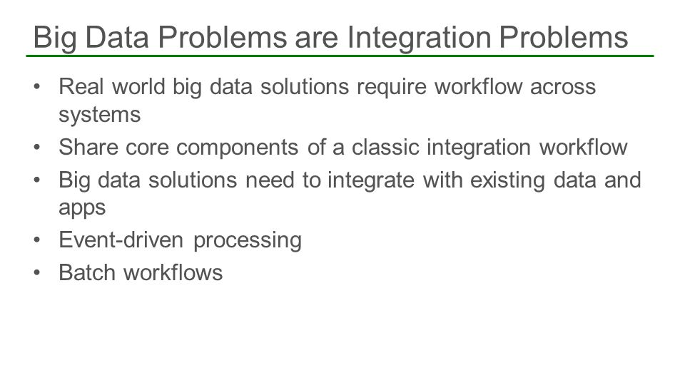 Big Data Problems are Integration Problems