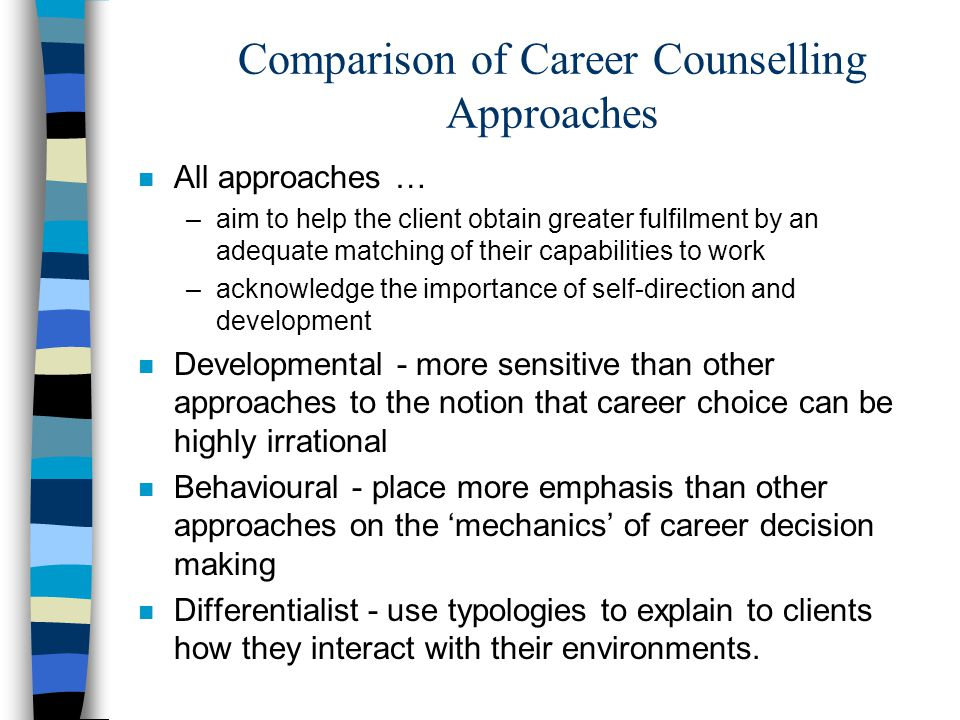 Comparison of Career Counselling Approaches