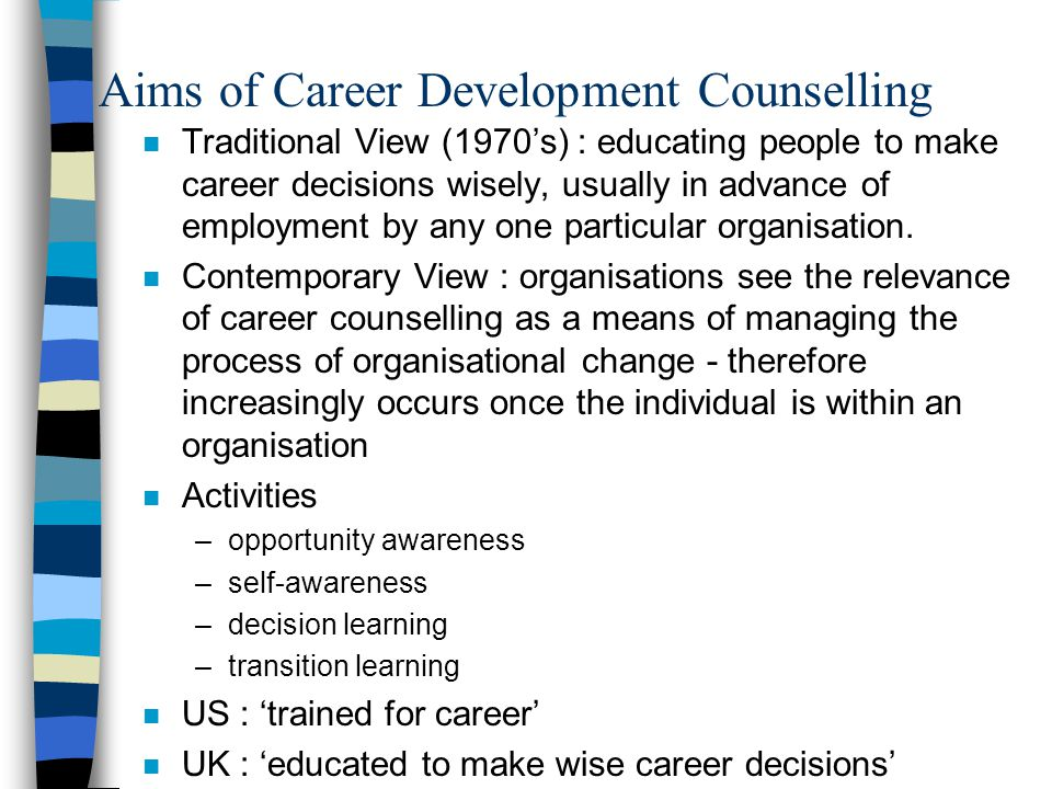 Aims of Career Development Counselling