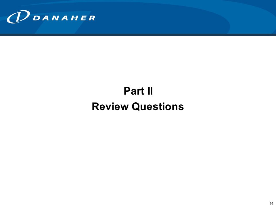 Part II Review Questions