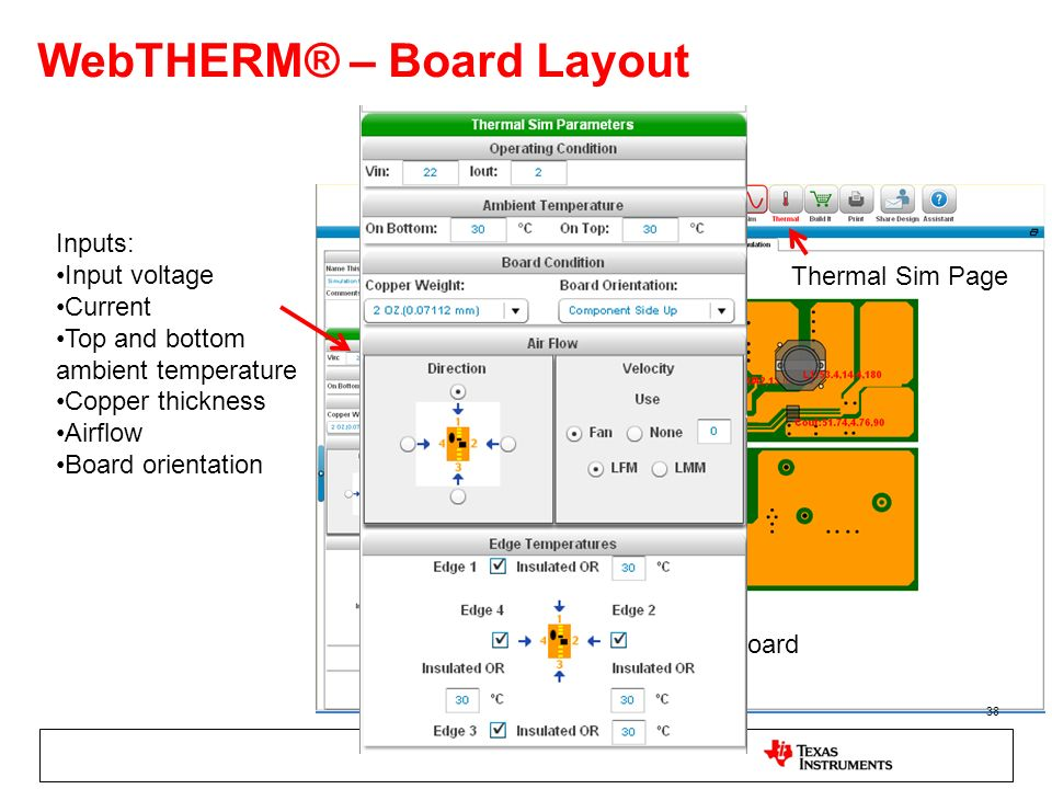 WebTHERM® – Board Layout