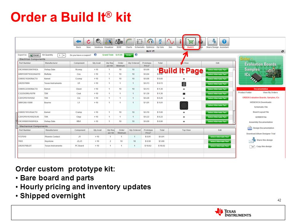 Order a Build It® kit Build It Page Order custom prototype kit: