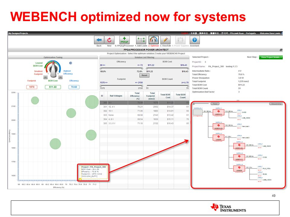 WEBENCH optimized now for systems