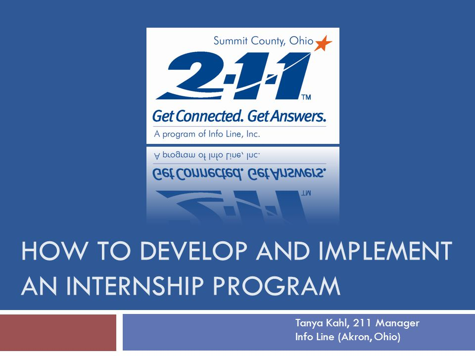 How to develop and implement an internship program