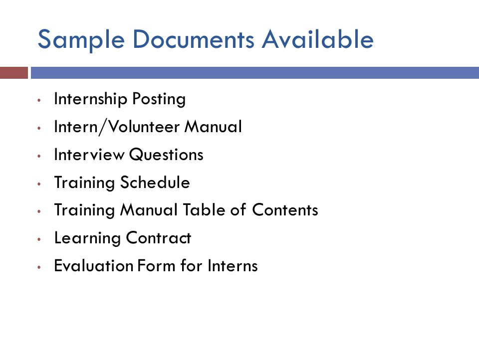 Sample Documents Available