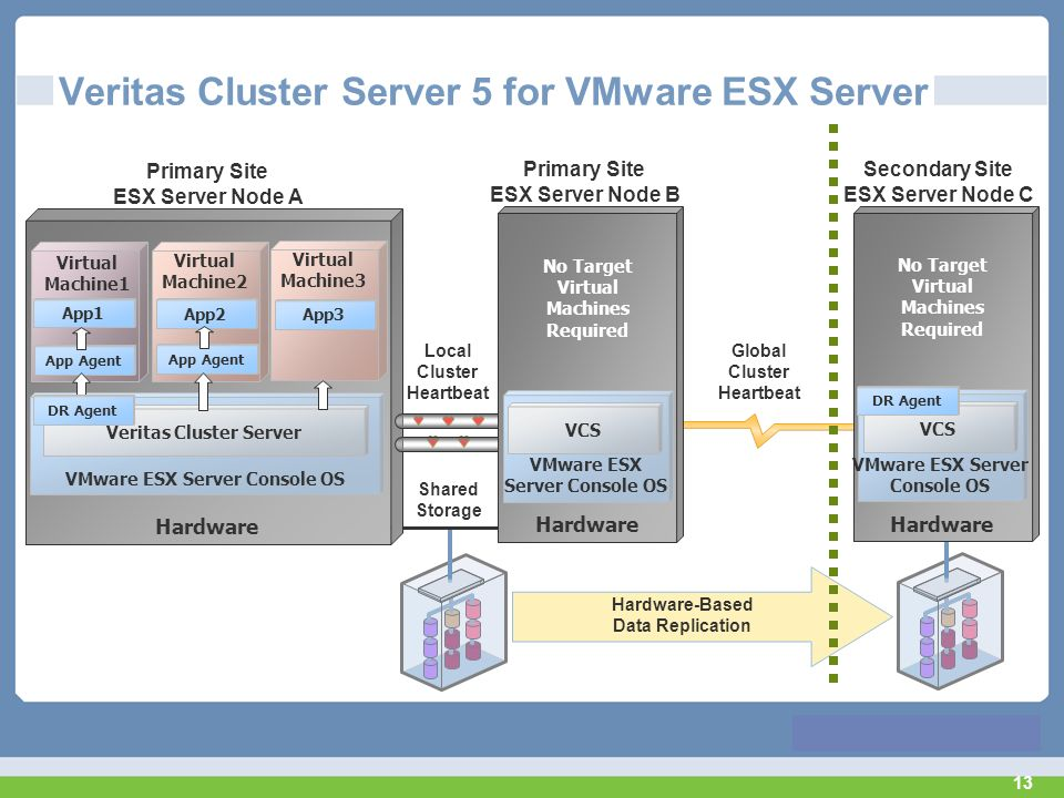 Veritas Cluster Server 5 for VMware ESX Server