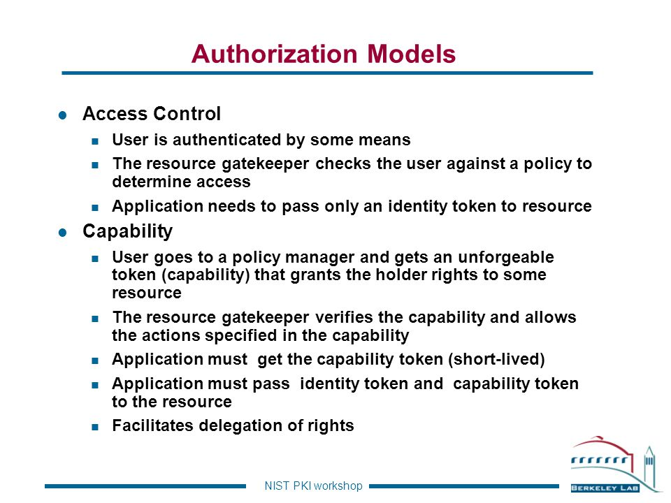 Authorization Models Access Control Capability