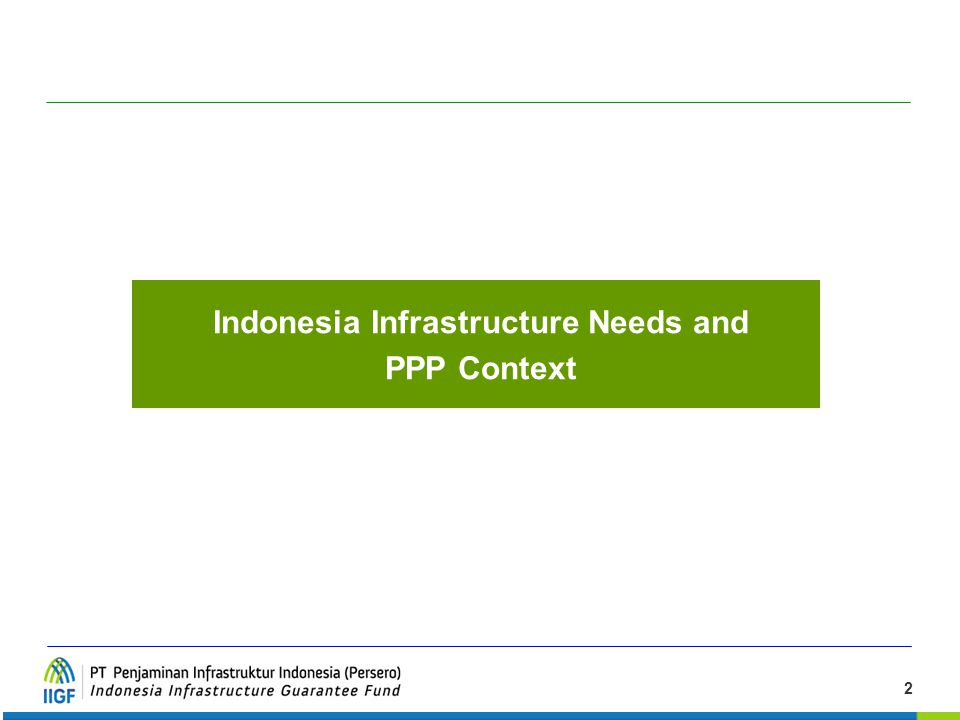 Indonesia Infrastructure Needs and