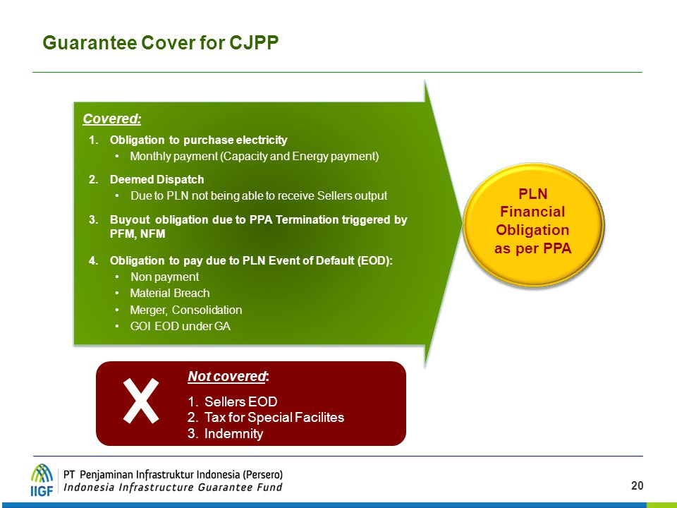 Guarantee Cover for CJPP