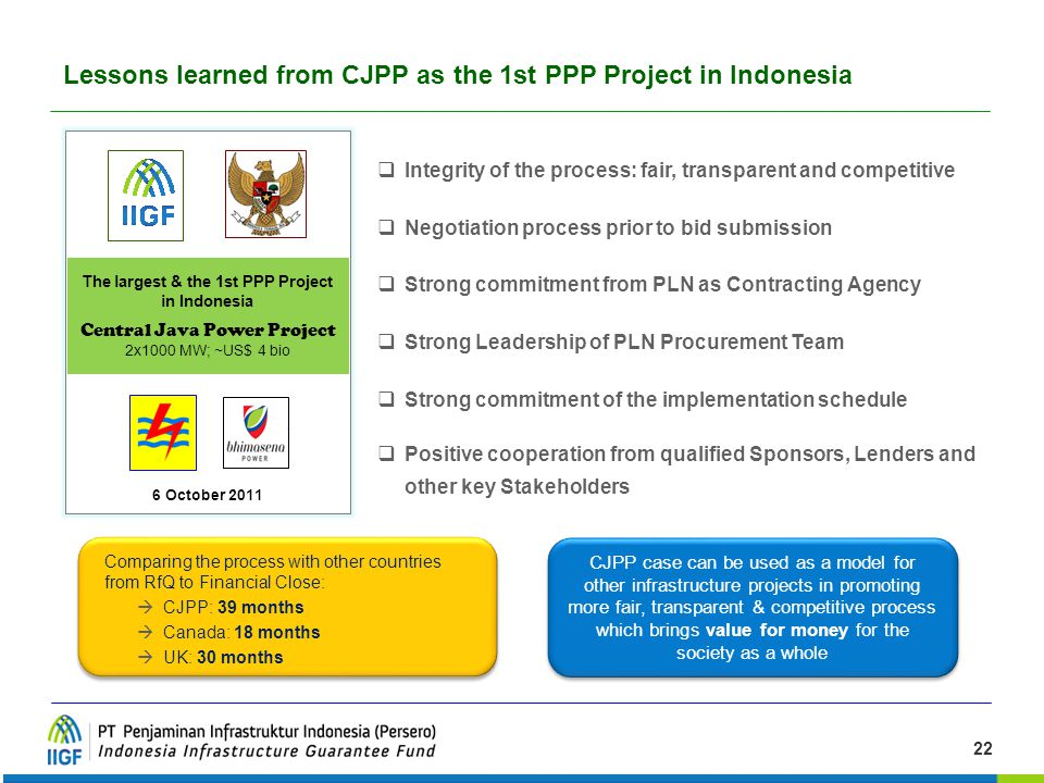 Lessons learned from CJPP as the 1st PPP Project in Indonesia