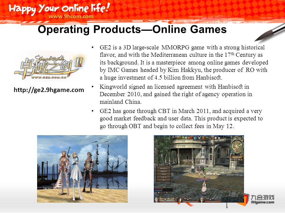 Operating Products—Online Games