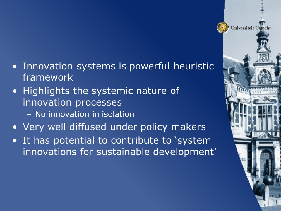 Innovation systems is powerful heuristic framework