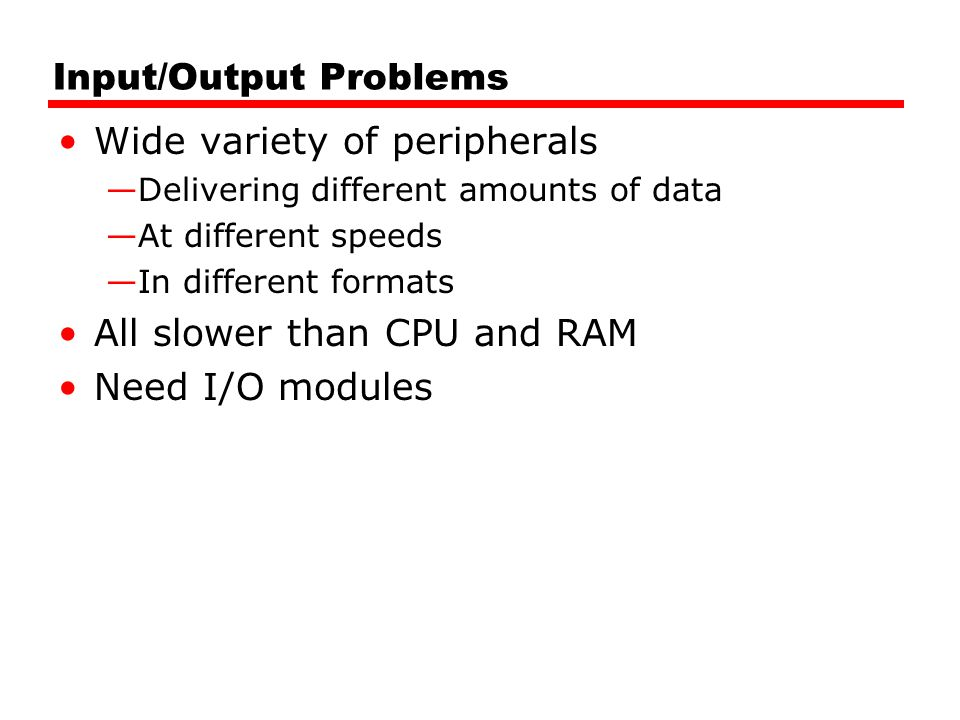 Input/Output Problems