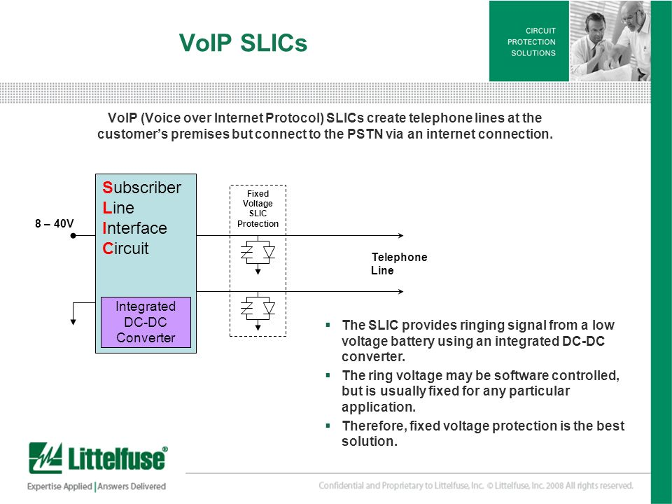 Fixed Voltage SLIC Protection