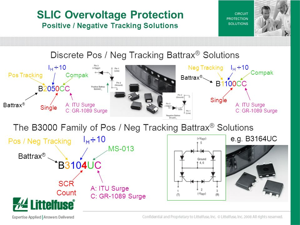 SLIC Overvoltage Protection Positive / Negative Tracking Solutions