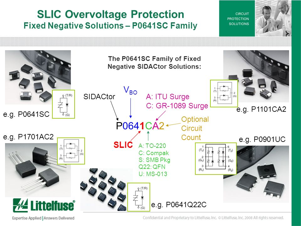 SLIC Overvoltage Protection Fixed Negative Solutions – P0641SC Family